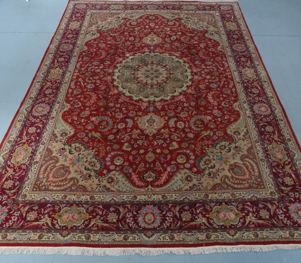 Persian Handmade Tabriz Oversized Room Rug