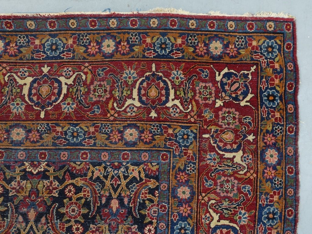 Antique Persian Room Size Carpet Rug - 5
