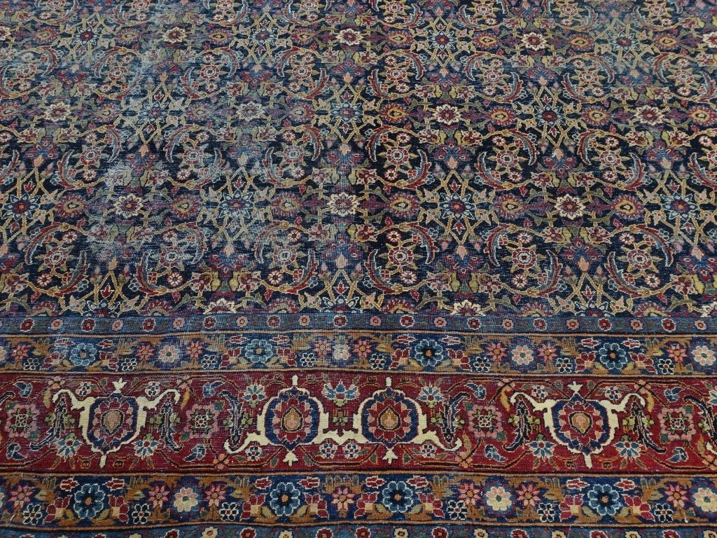 Antique Persian Room Size Carpet Rug - 6
