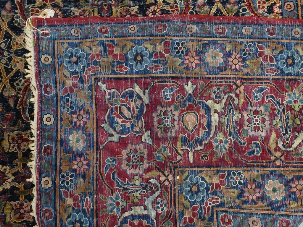 Antique Persian Room Size Carpet Rug - 7