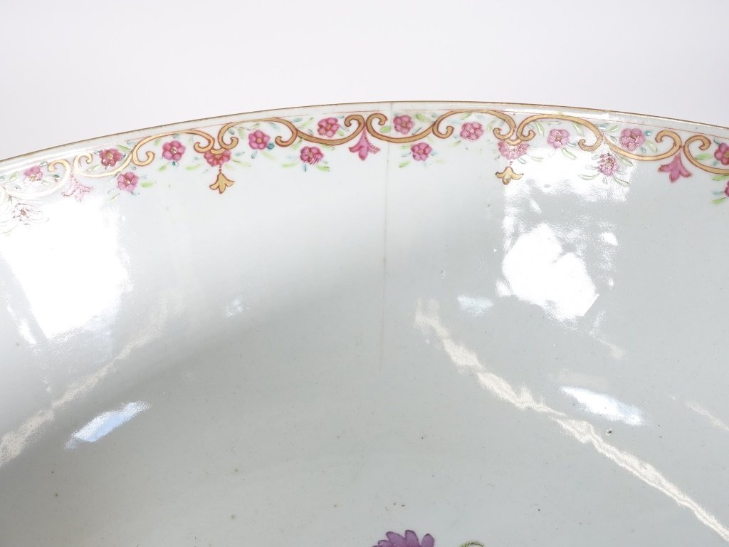 Chinese Export Porcelain Famille Rose Punch Bowl - 10