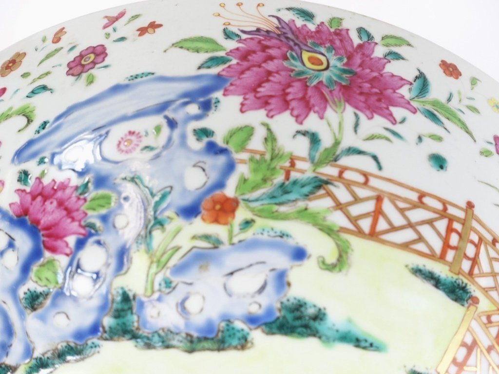 Chinese Export Porcelain Famille Rose Punch Bowl - 7