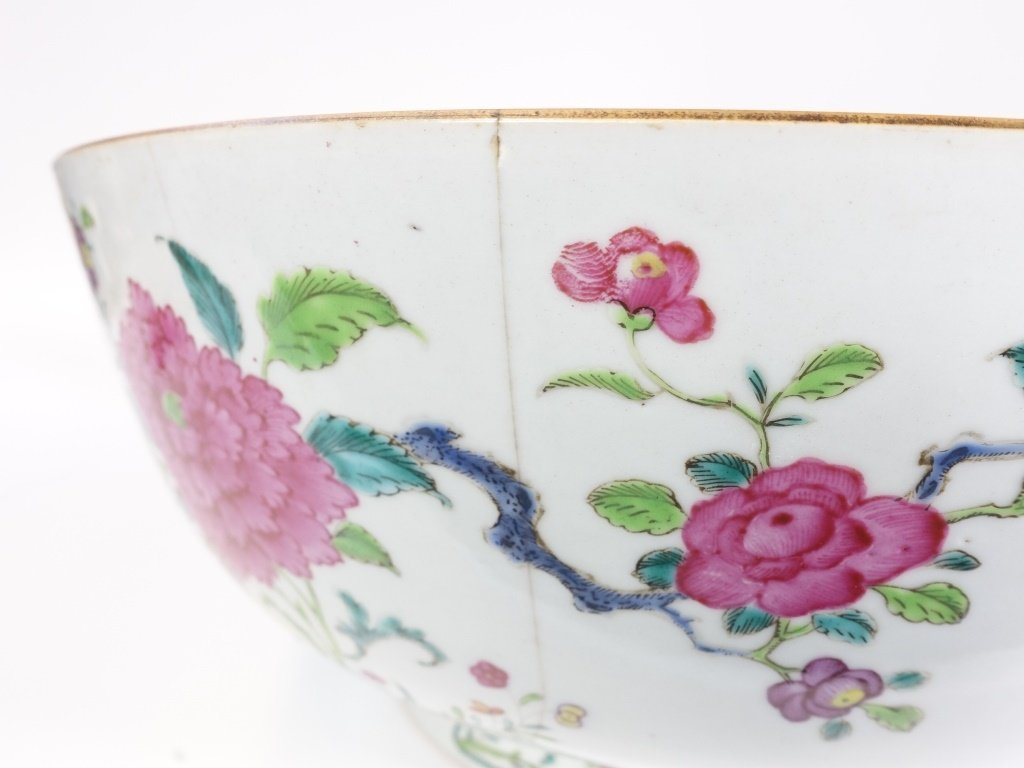 Chinese Export Porcelain Famille Rose Punch Bowl - 9