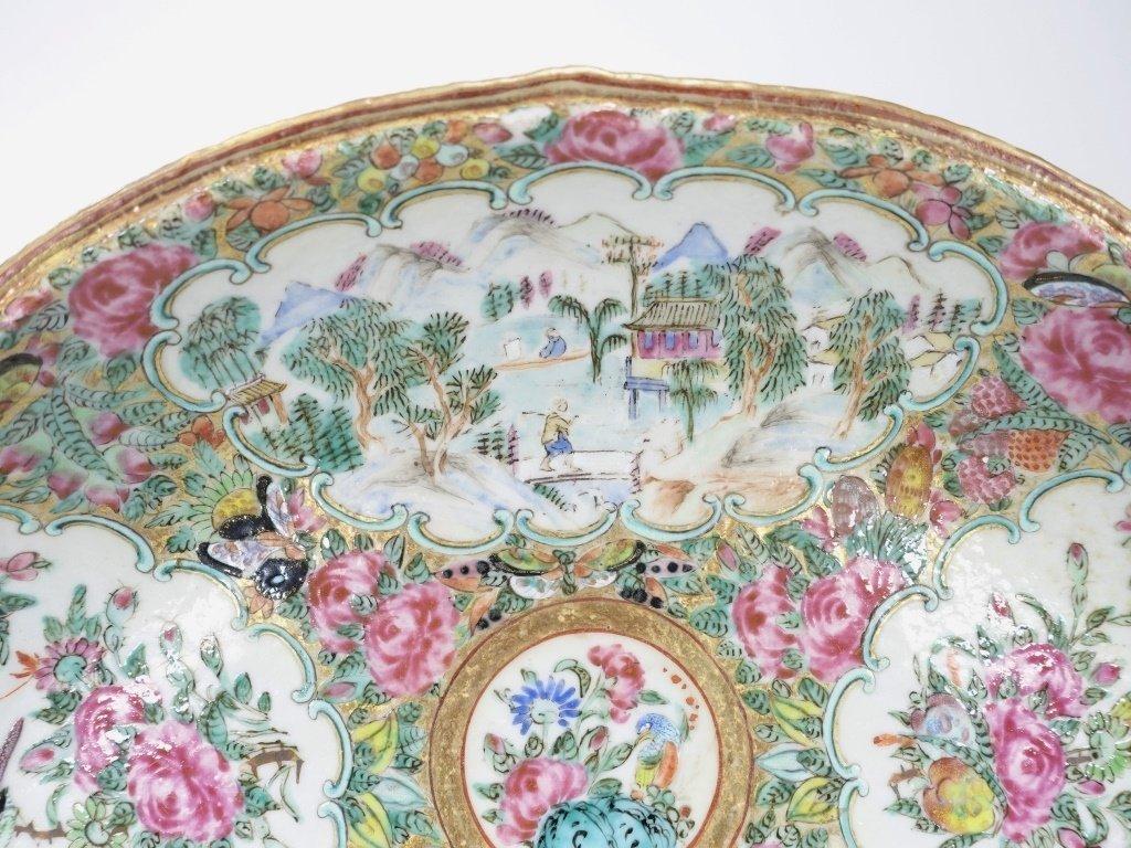 Chinese Mandarin Rose Medallion Porcelain Plate - 2