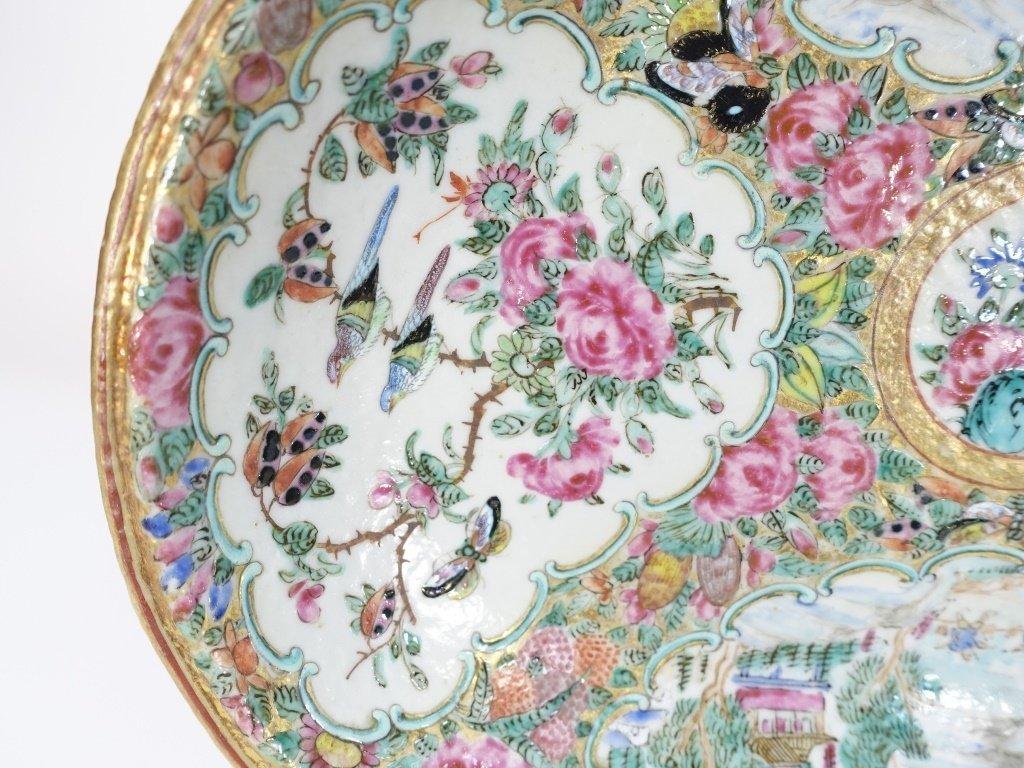 Chinese Mandarin Rose Medallion Porcelain Plate - 3