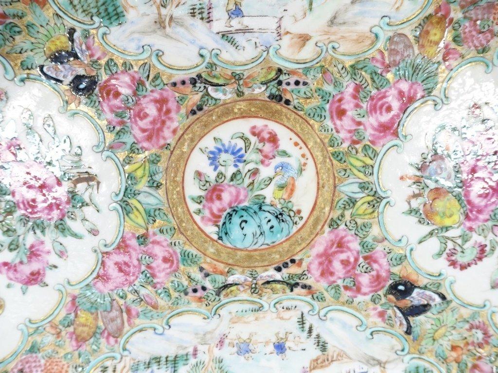 Chinese Mandarin Rose Medallion Porcelain Plate - 4
