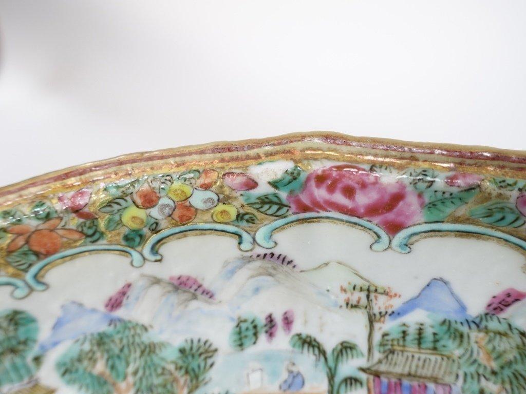 Chinese Mandarin Rose Medallion Porcelain Plate - 5