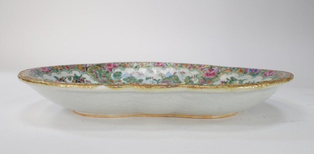 Chinese Mandarin Rose Medallion Porcelain Plate - 7
