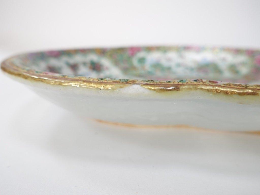 Chinese Mandarin Rose Medallion Porcelain Plate - 8