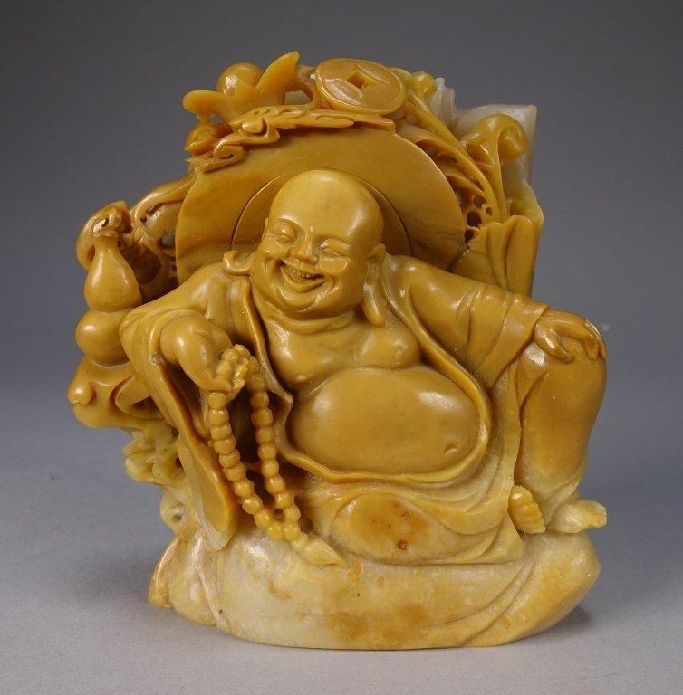 Chinese Carved Soapstone Buddha Figure