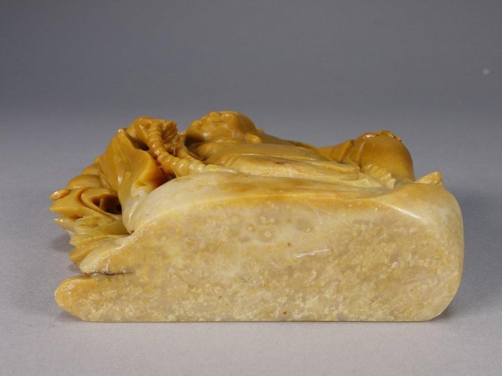 Chinese Carved Soapstone Buddha Figure - 5
