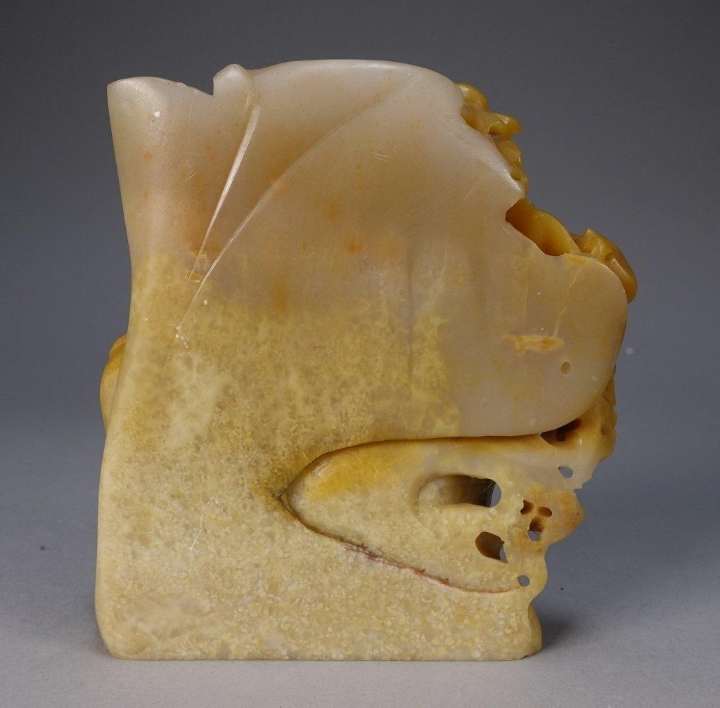 Chinese Carved Soapstone Buddha Figure - 6