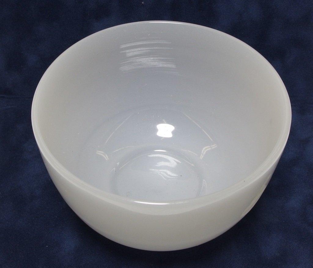 Chinese Qing Dynasty White Peking Glass Bowl