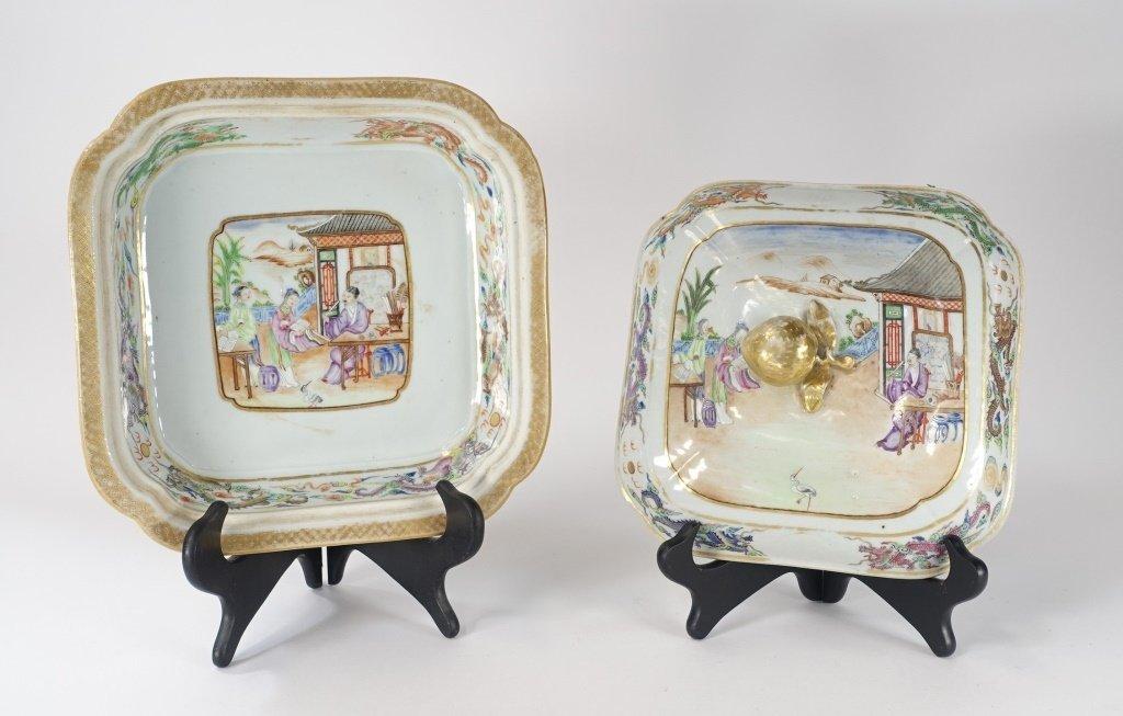 Chinese Mandarin Famille Rose Porcelain Tureen