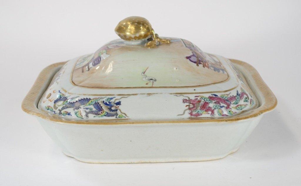 Chinese Mandarin Famille Rose Porcelain Tureen - 2
