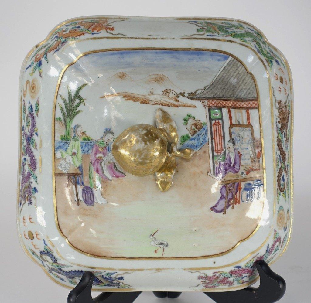 Chinese Mandarin Famille Rose Porcelain Tureen - 3
