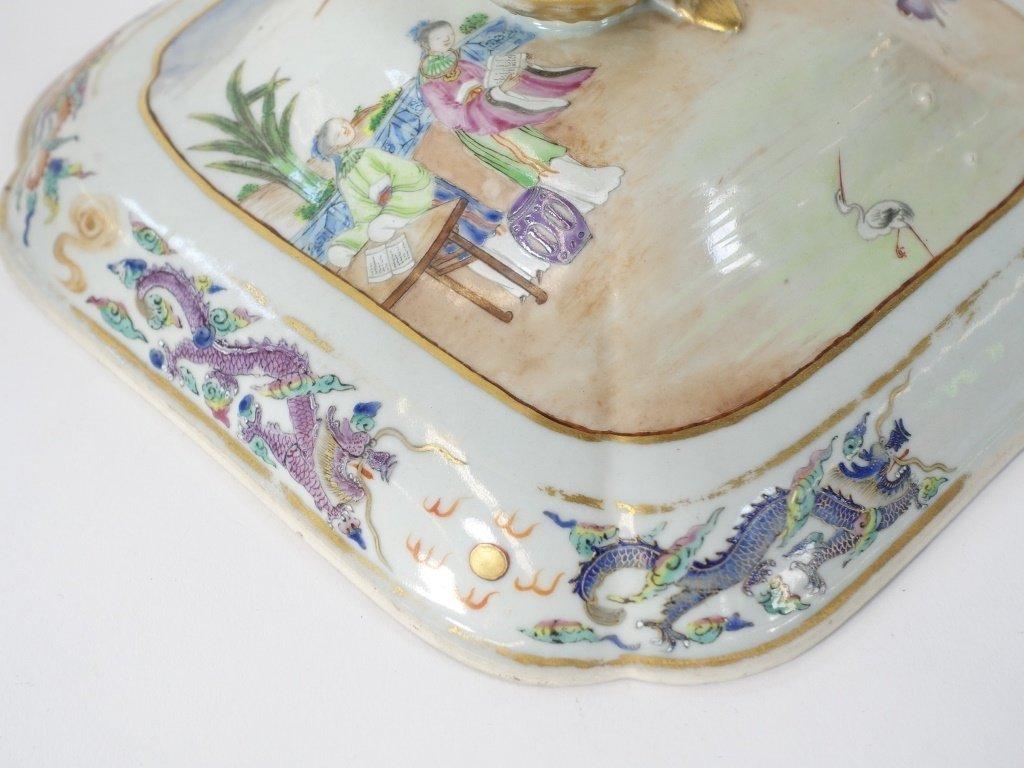Chinese Mandarin Famille Rose Porcelain Tureen - 5