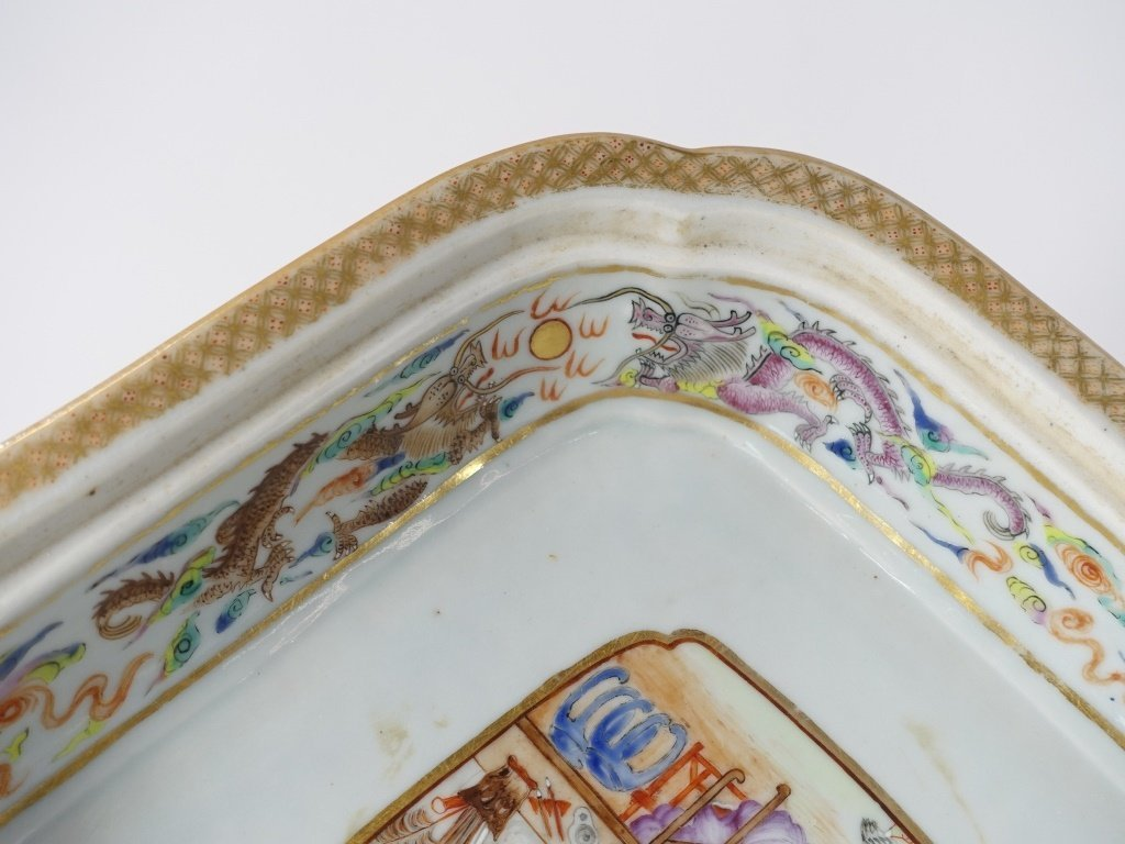 Chinese Mandarin Famille Rose Porcelain Tureen - 9