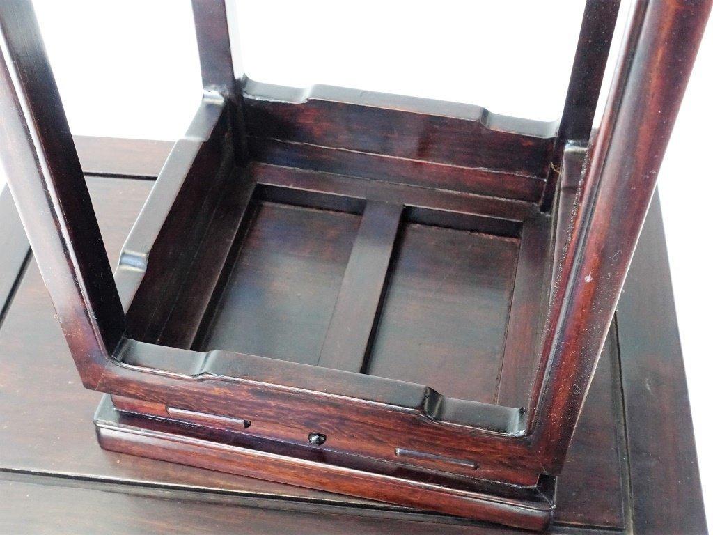 Set of 4 Chinese Hardwood Stacking Nesting Tables - 5