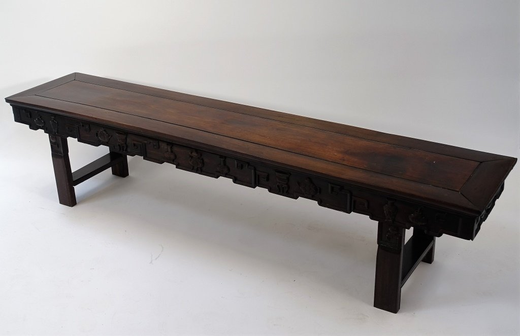 Chinese Carved Hongmu Hardwood Long Altar Table