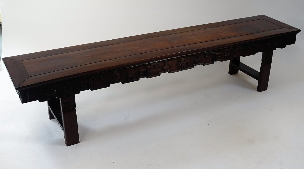 Chinese Carved Hongmu Hardwood Long Altar Table - 2