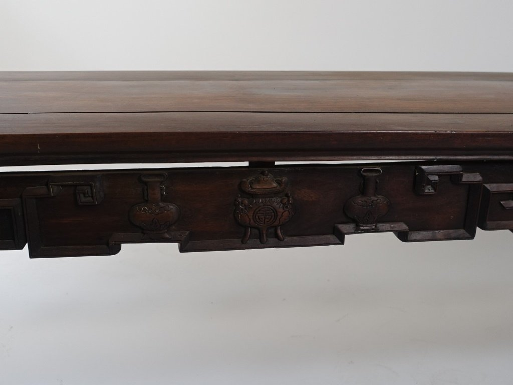 Chinese Carved Hongmu Hardwood Long Altar Table - 3