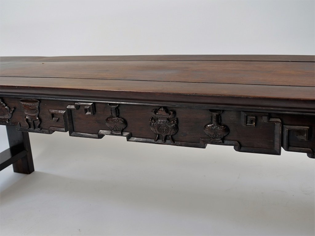 Chinese Carved Hongmu Hardwood Long Altar Table - 4