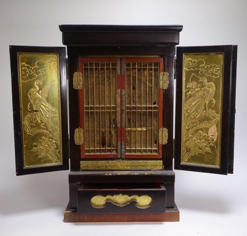 Large Japanese Lacquer & Gilt Wood Zushi Shrine - 3