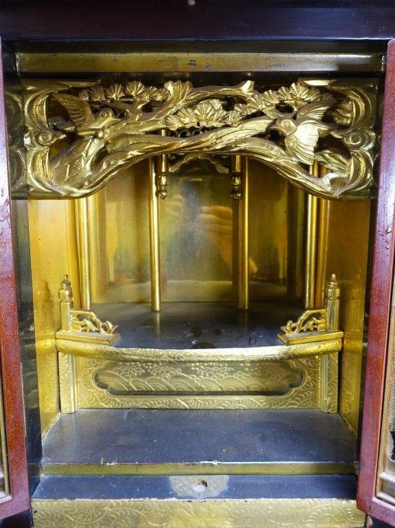 Large Japanese Lacquer & Gilt Wood Zushi Shrine - 5