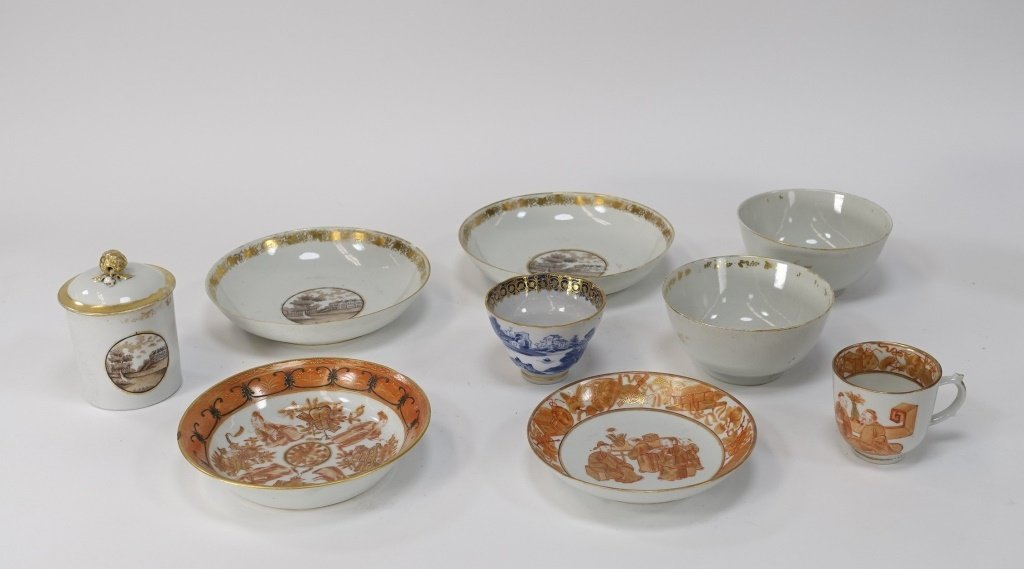 Chinese Export Porcelain Estate Grouping