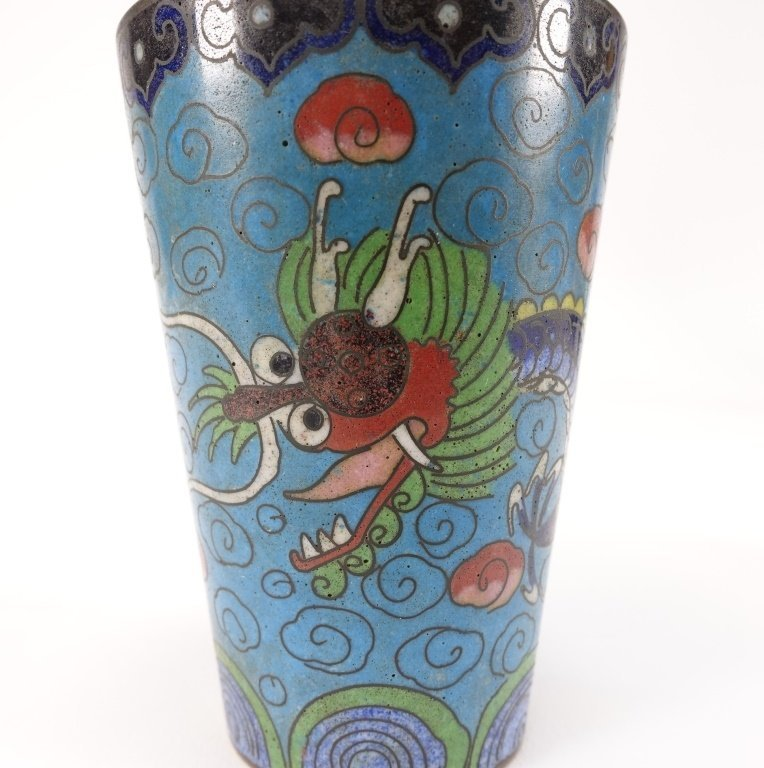 Chinese Cloisonne Enamel Dragon Cup - 5