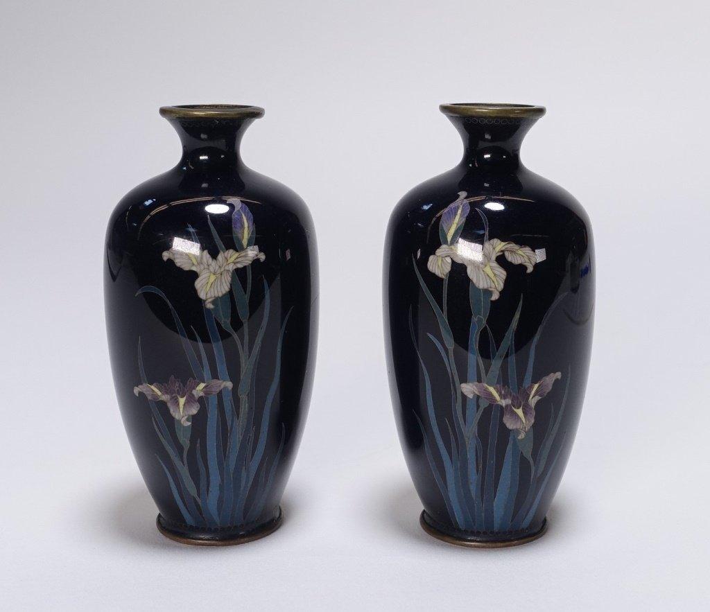 PR Japanese Miniature Cloisonne Silver Wire Vase