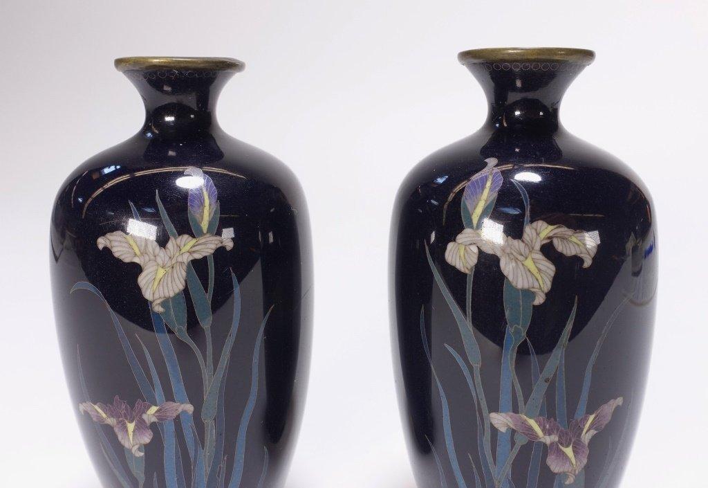 PR Japanese Miniature Cloisonne Silver Wire Vase - 2