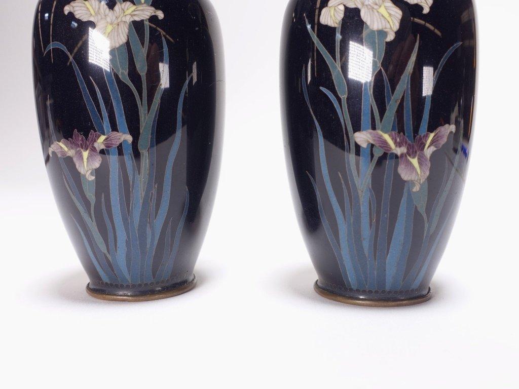 PR Japanese Miniature Cloisonne Silver Wire Vase - 3