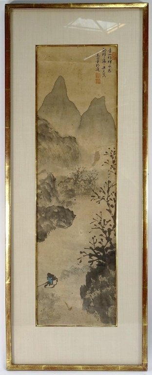 Chinese Painting of Landscape and River