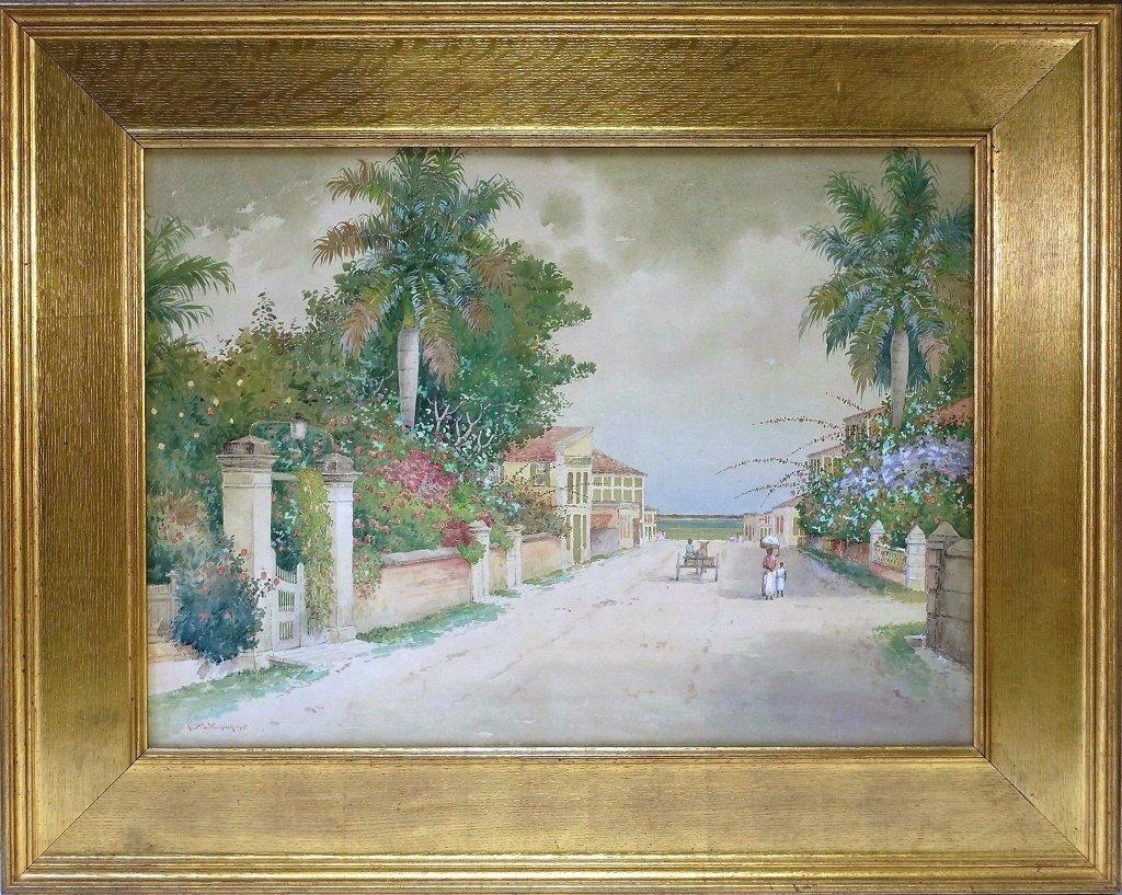 Hartwell L. Woodcock Caribbean Bahamas Painting