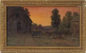 Thomas Bigelow Craig After Glow Bucolic Painting