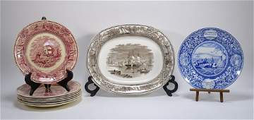 9 American Marine Independence Staffordshire Plate