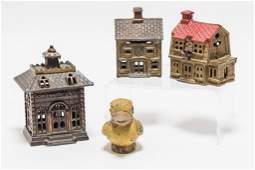American Cast Iron Puzzle Still Bank Duck Group