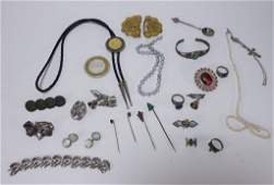 Estate Sterling Silver Costume Jewelry Group