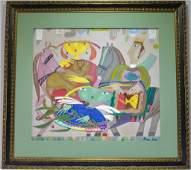 Gagik Shahinyan Royal Family Abstract Painting