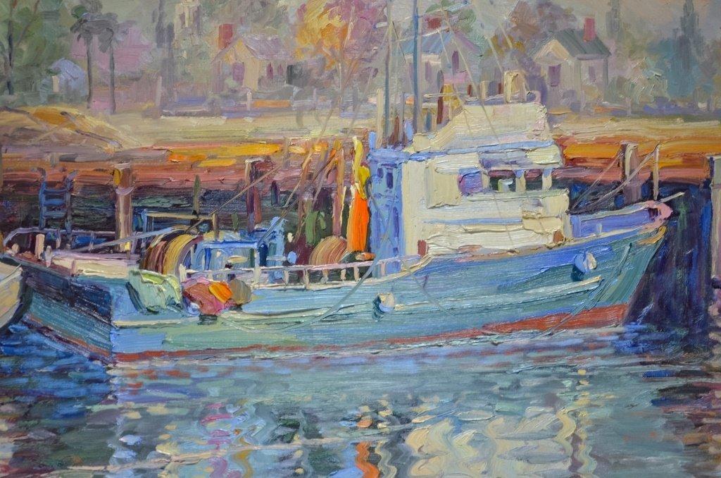 Rapheal Maniago Impressionist Trawler O/C Painting - 2