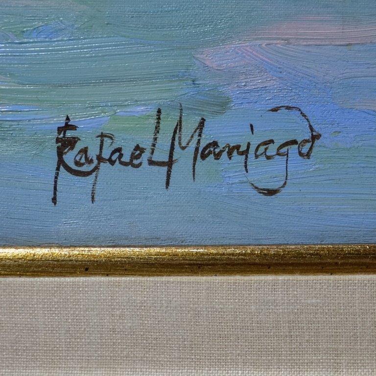 Rapheal Maniago Impressionist Trawler O/C Painting - 3