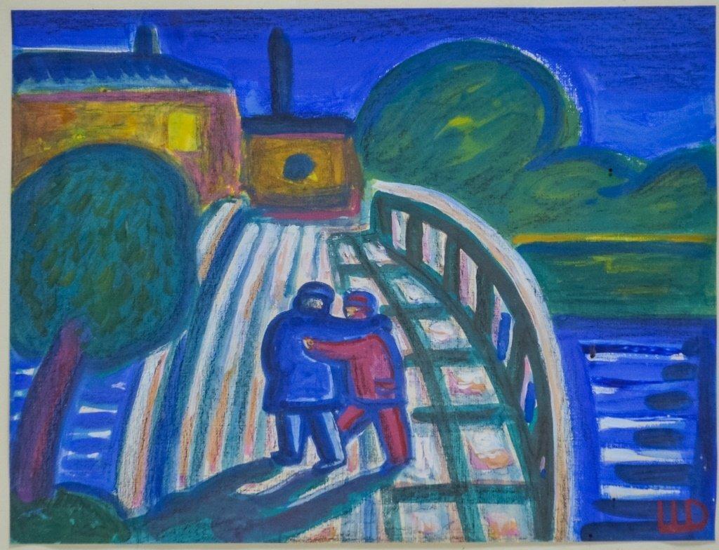 Dimitri Shagin Friendship Russian Acrylic Painting - 2