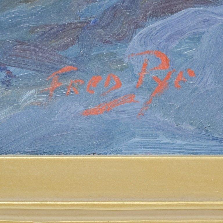 Fred Pye Rocky Crashing Wave Seascape Oil Painting - 4