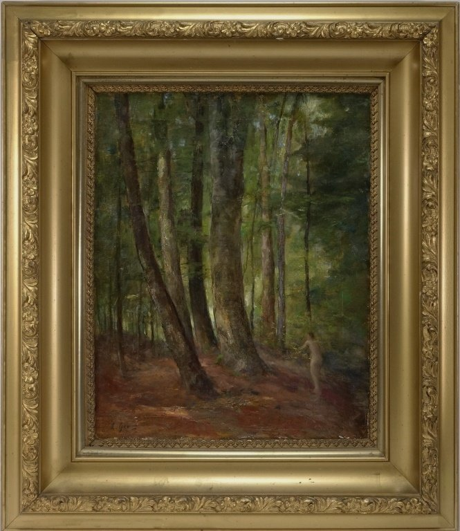Lillian Genth Nude Female Nymph Forest Painting