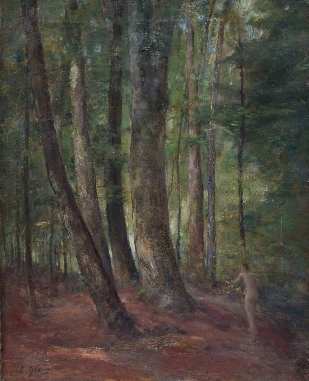 Lillian Genth Nude Female Nymph Forest Painting - 2