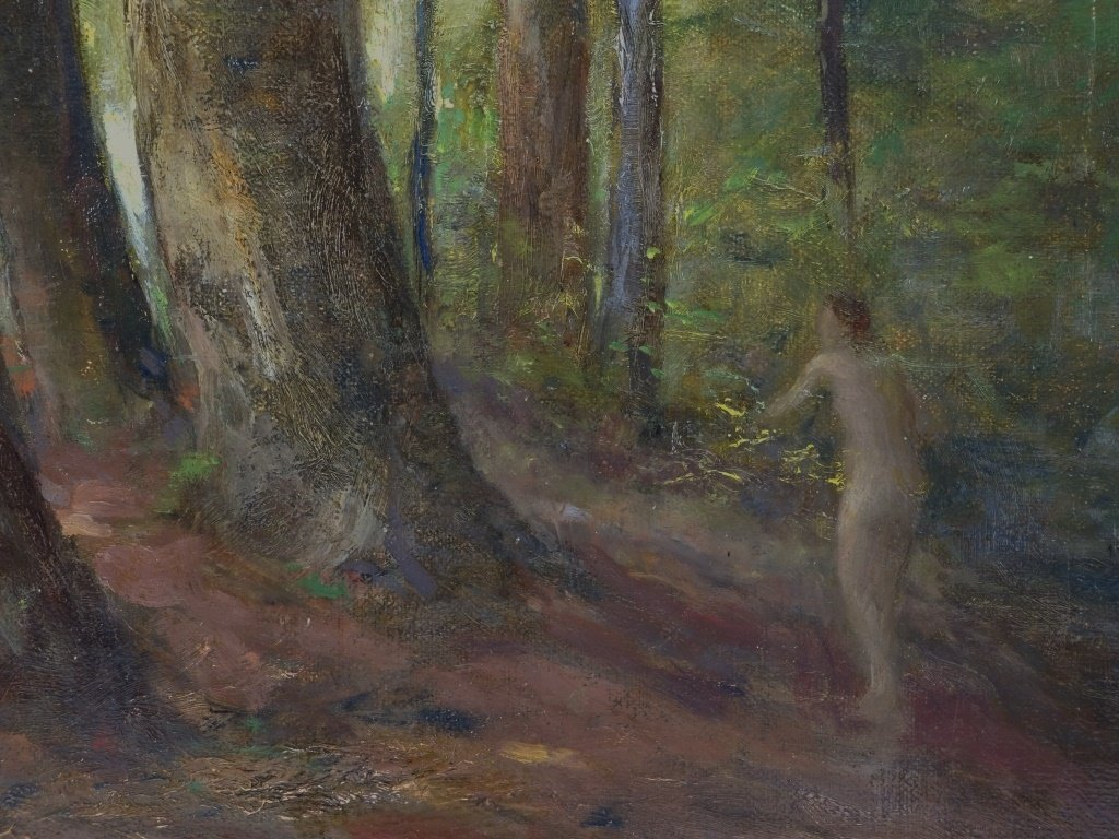 Lillian Genth Nude Female Nymph Forest Painting - 3