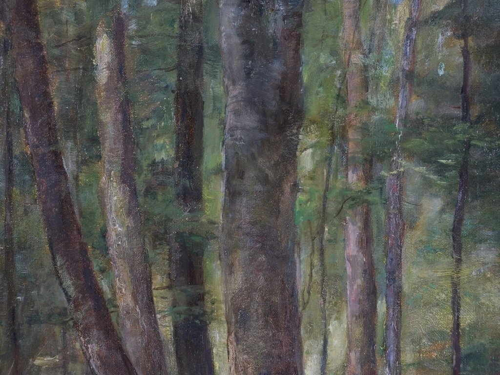 Lillian Genth Nude Female Nymph Forest Painting - 4