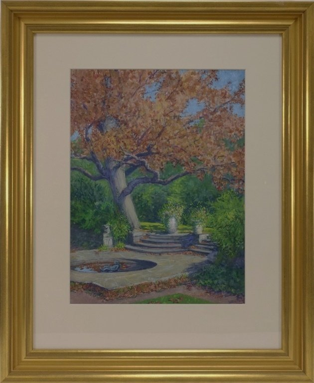 Margaret Whitehead Fall New York Fountain Painting